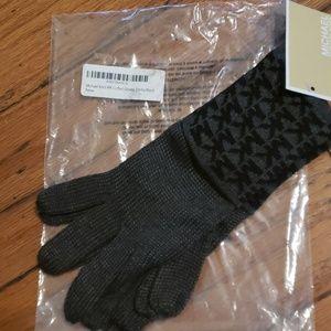 Michael Kors MK Cuffed Gloves Derby/Black